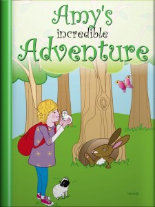 Book cover: from the guinea pig story, Amy's Incredible Adventure
