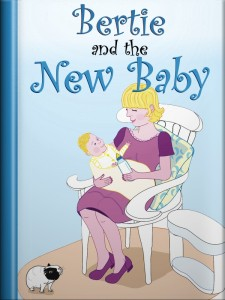 book cover for the guinea pig story, Bertie and the New Baby