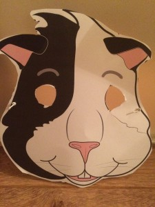 World Book Day mask of Bertie the Guinea Pig